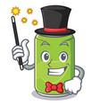 magician soft drink character cartoon vector image