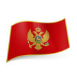 national flag of montenegro red field bordered vector image