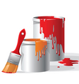 paint buckets vector image