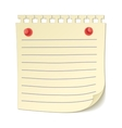 Paper sheet on pushpins icon vector image