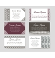 Personal cards with ethnic design vector image