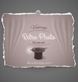 Top hat and magic vintage photo vector image