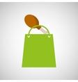 bag shopping chicken thigh icon vector image
