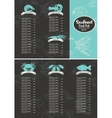 price list for a seafood vector image