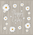 happy easter flower background vector image vector image