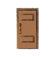 wooden door handle entrance decorative vector image vector image