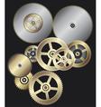 clock gears vector image