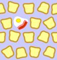 breakfast seamless texture vector image
