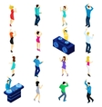 Dancing People Isometric vector image