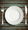 plate fork and knife vector image