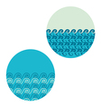 wave in circle set vector image