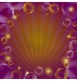 Background bubbles and beams vector image