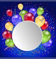 birthday holiday card vector image