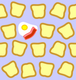 breakfast seamless texture vector image
