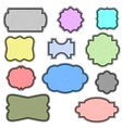 colorful labels with texture vector image