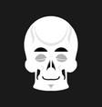 skull sleeps emoji skeleton head asleep emotion vector image