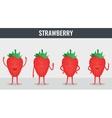 Strawberry Funny cartoon fruits Organic food vector image