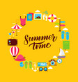 summertime flat circle vector image
