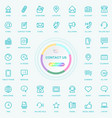 universal web and internet contact us line icons vector image