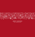 white and red seamless snowflake header christmas vector image