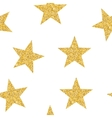 Abstract Golden Star Seamless Pattern Background vector image