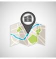 travel concept location map money bill design vector image