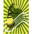 sports background tennis vector image vector image