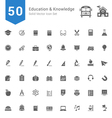 Education and Knowledge Solid Icon Set vector image vector image