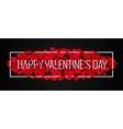Valentines Day Banner Design Background vector image