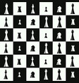 seamless pattern with chess pieces vector image