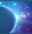 abstract blue background with planet vector image