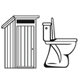 WC Toilet vector image