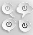 Switch element White flat buttons on gray vector image