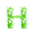 spring flowers alphabet h vector image