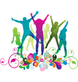 party and dance vector image