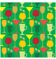 Seamless wine glasses pattern vector image vector image