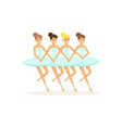ballet theatre ballerinas performing dance vector image