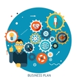 Businessman Describes Successful Strategy Plan vector image
