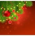 Christmas tree decoration vector image