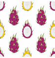 dragon fruit seamless pattern for design vector image