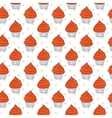 Muffins Seamless Pattern vector image