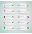 number options vector image