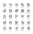 real estate line icons set 3 vector image