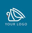 swan logo sign emblem-02 vector image