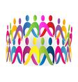 Teamwork meeting people logo design vector image
