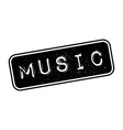 Music rubber stamp vector image vector image