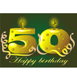 50 year anniversary vector image vector image