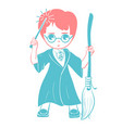 icon of a wizard boy vector image