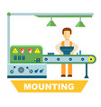 industrial mounting isolated concept vector image