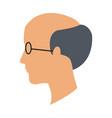 profile head man bald glasses avatar vector image
